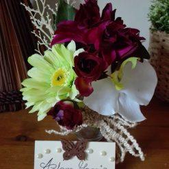 Artificial flower arrangement, floral arrangement, home decor (free p&p)