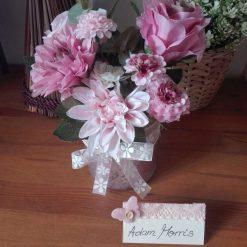 Pink artificial flower arrangement (free p&p)