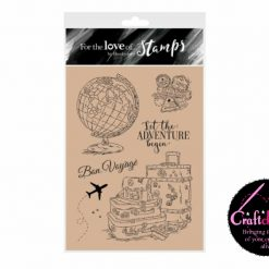 For The Love Of Stamps - Hunkydory - Designer Selection 2 - Around The Globe - A6 Clear Stamp Set