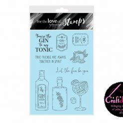 For The Love Of Stamps - Hunkydory - Designer Selection 2 - Gin-credible - A6 Clear Stamp Set