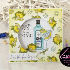For The Love Of Stamps - Hunkydory - Designer Selection 2 - Gin-credible - A6 Clear Stamp Set 1