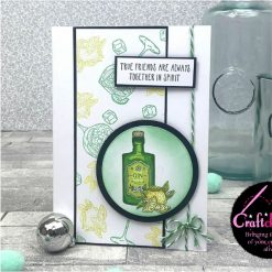 For The Love Of Stamps - Hunkydory - Designer Selection 2 - Gin-credible - A6 Clear Stamp Set 2