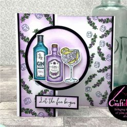For The Love Of Stamps - Hunkydory - Designer Selection 2 - Gin-credible - A6 Clear Stamp Set 4
