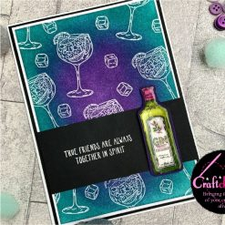 For The Love Of Stamps - Hunkydory - Designer Selection 2 - Gin-credible - A6 Clear Stamp Set 5