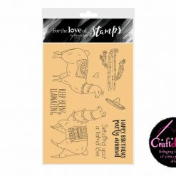 For The Love Of Stamps - Hunkydory - Designer Selection 2 - Llama Love - A6 Clear Stamp Set