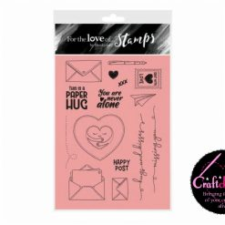 For The Love Of Stamps - Hunkydory - Designer Selection 2 - Paper Hugs - A6 Clear Stamp Set