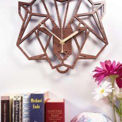 Geometric Bear's Head Clock. Wooden Bear clock - Bear clock. Perfect for Bear lovers. Bear obsessives.