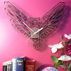 Owl Clock - Geometric Wooden Owl Clock - Owl. Perfect for Owl lovers. Ideal gift for Owl obsessives. Owl gift. Owl lovers gift. Owl obsessed