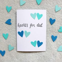 Hearts For Dad Father's Day Greetings Card