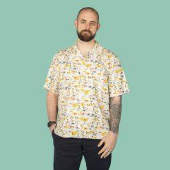 Hawaii themed men's casual shirt
