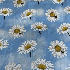 Daisy Organic cotton Jersey fabric by the meter