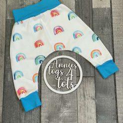 Rainbow jersey harem style trousers