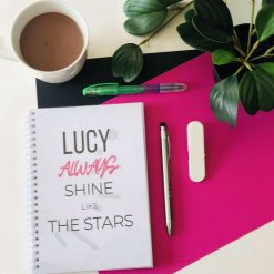 The Always Shine Daily Planner. A5, 180 pages. Undated. Original designs. 100% recyclable. With messages designed to boost mood & positivity.