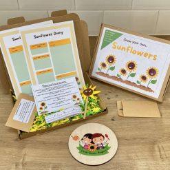 Grow your own Sunflower kit | Letter box gift | Activity | Party Bag Filler | Gardening gift for kids