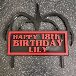 Stranger Things Cake Topper 3D Printed Inspired Personalised