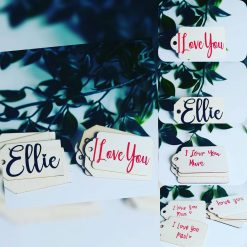 Hand made wooden gift tags