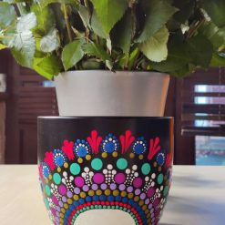 Hand-painted flower pot small