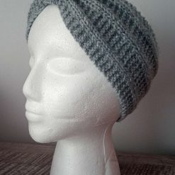 Adult hand knitted woven headband/earwarmer
