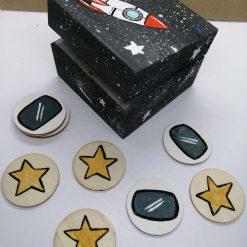 Token reward gift box, space theme tokens