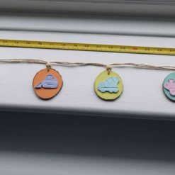 Pastel vehicles wood and clay bunting