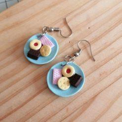 British biscuits drop earrings