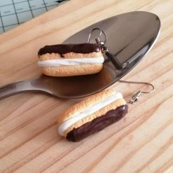 Chicolate éclairs.... Drop earrings