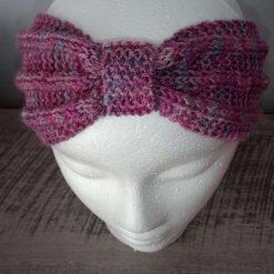 Children's hand knitted twist headband/earwarmer