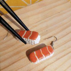 Sushi me salmon...... Drop earrings