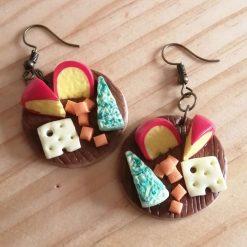 Cheese board drop earrings