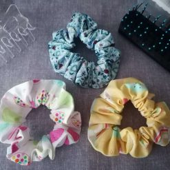 Hair Scrunchies - Pack of 3 Designs (Sunshine, Circles and Floral)