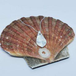 My Heart Belongs in Fife, Handmade Fine Silver Pendant Necklace