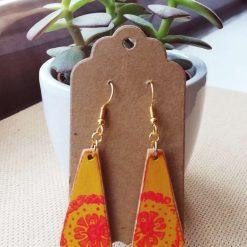 Wooden Dangle Earrings Triangles