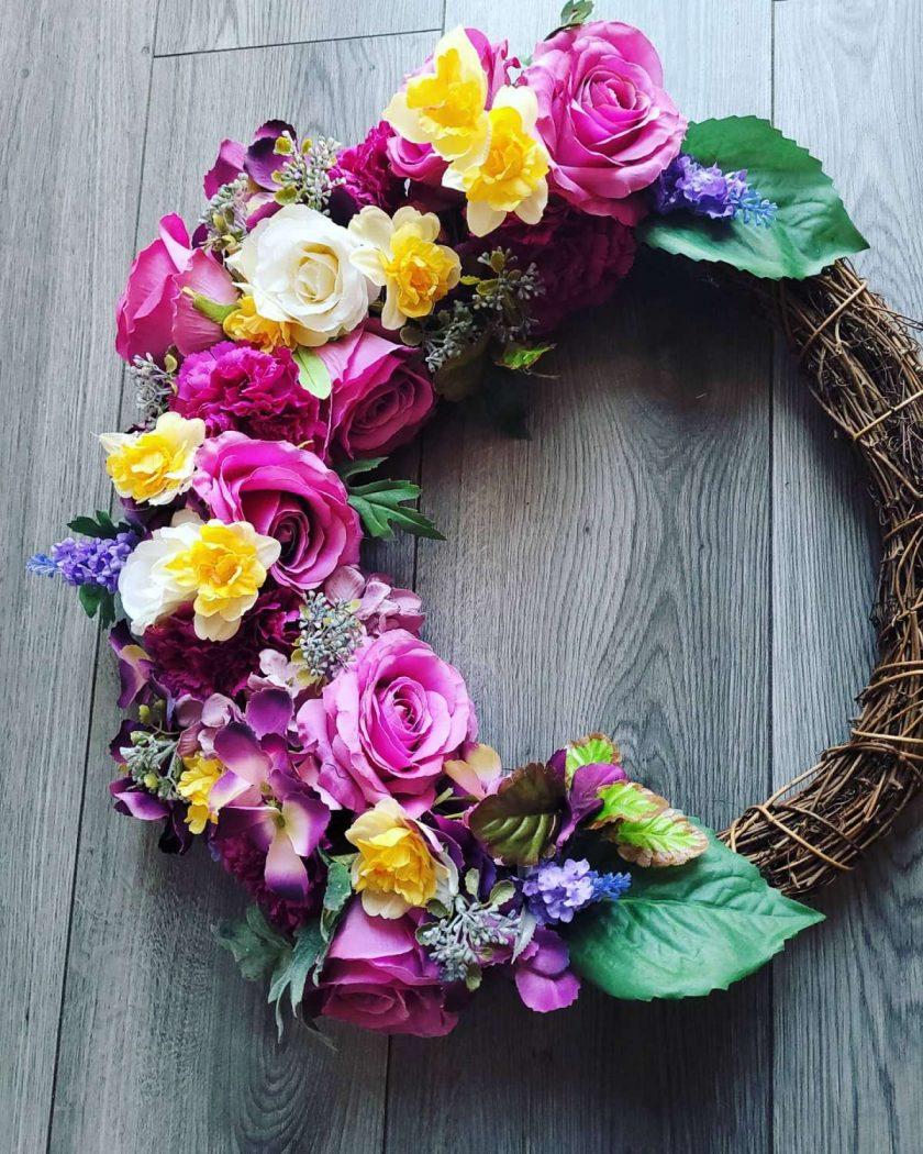 Beautiful hand made summer Wreath 50cm