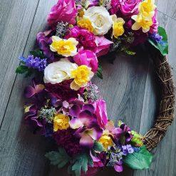 Beautiful hand made summer Wreath 50cm 1