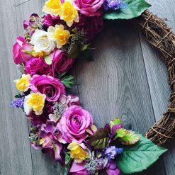 Beautiful hand made summer Wreath 50cm 3
