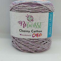 Chainy cotton cakes retwisst RCC05 , lilac, blue, apricot, beige mix 250g