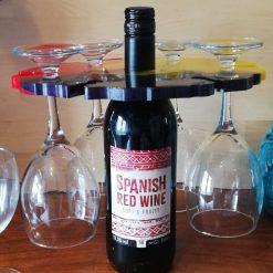 Bottle and glass holder
