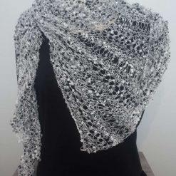 Lightweight hand knitted shawl/wrap
