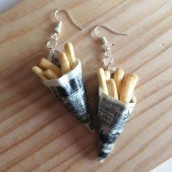 Cone of chips drop earrings