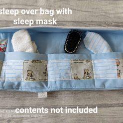Sleep over toiletry bag with a matching sleep mask