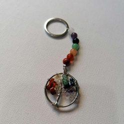 Rainbow Chakra Tree Of Life Key Chain 1