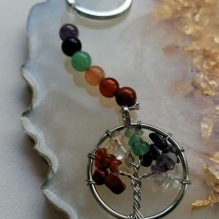 Rainbow Chakra Tree Of Life Key Chain 3