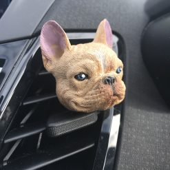 French Bulldog / Frenchie Car Vent Clip. Lovely Hand Painted French Bulldog Gift - Choice of scents. Car Air Freshener Vent Clip