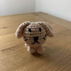 Handmade Crochet Dog Keyring/Car or Room Essential Oil Diffuser