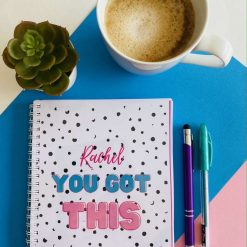 The You Got This  Daily and Weekly Planner Bundle is Here! Personalised. Daily Planner- A5, 180 pages. Weekly Planner- 52 colourful pages for 52 weeks.