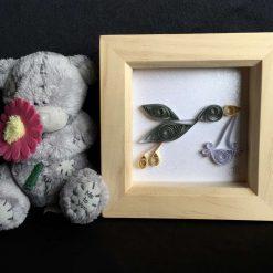 Paper Quilling Stork Frame