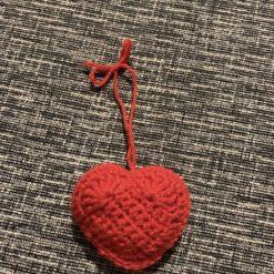 Handmade Crochet Hanging Heart /Keyring/Car or Home Essential Oil Diffuser