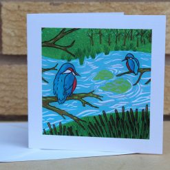 Kingfishers - Greetings Card (Mother's Day, Birthdays, all occasions) by Sarah's Printing