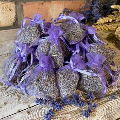 10 Bags of Dried Natural Aromatic Lavender in 5x7cm Lilac Bags