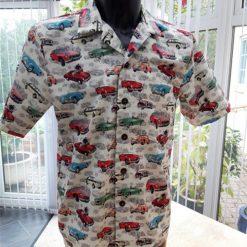 MG car themed men's casual shirt